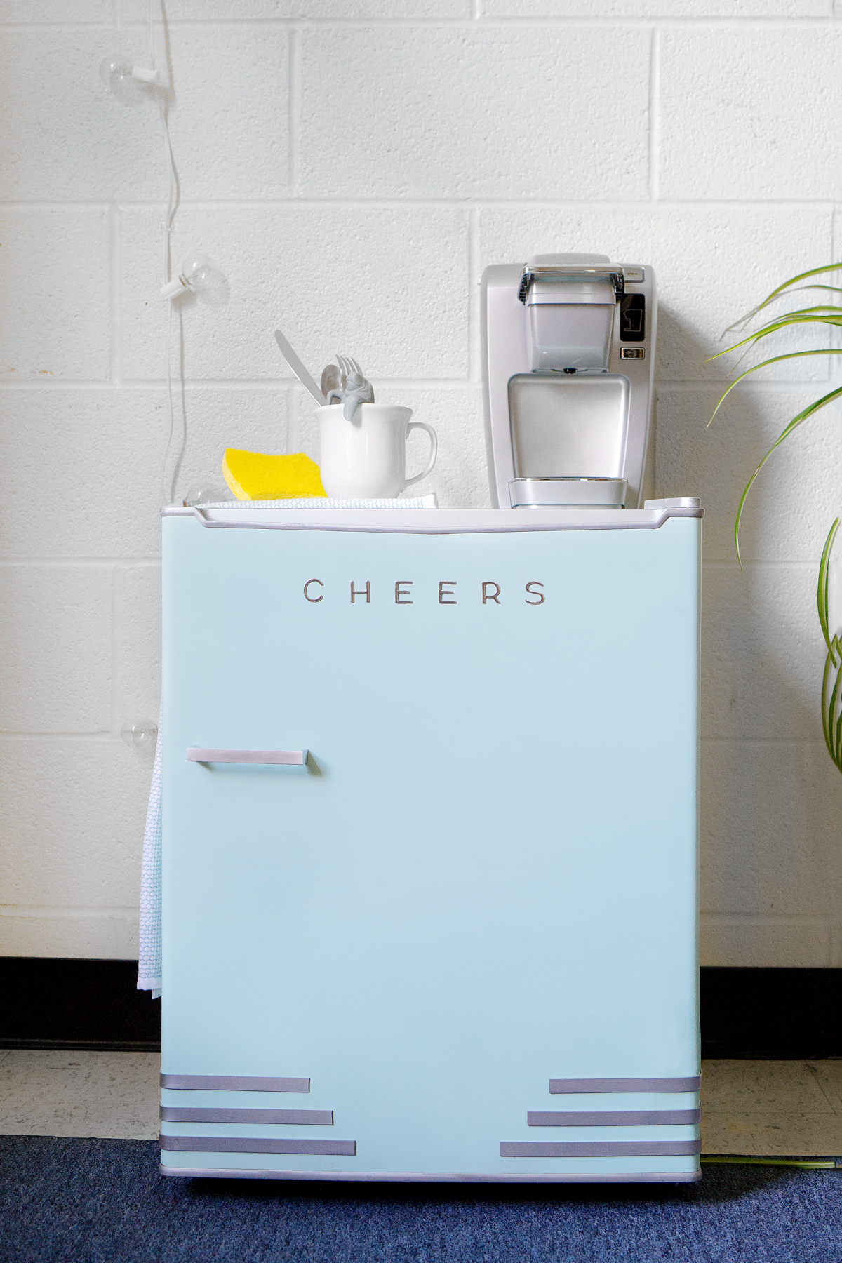 The Miniest Mini Fridge Makeover