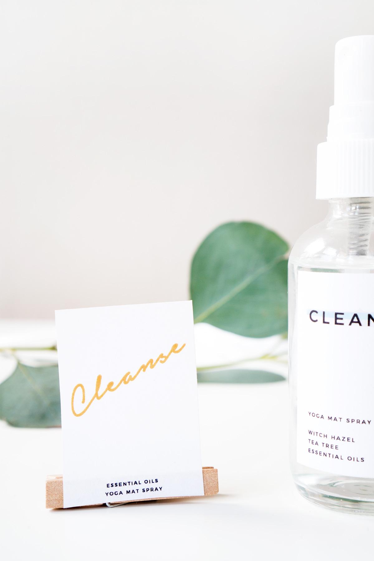 DIY Cleansing Yoga Mat Spray with Printable Labels | ctrl