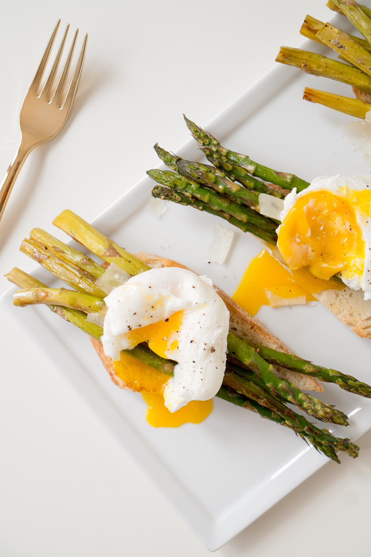 Poached Egg Asparagus Toast with Shaved Parmesan | ctrl ...