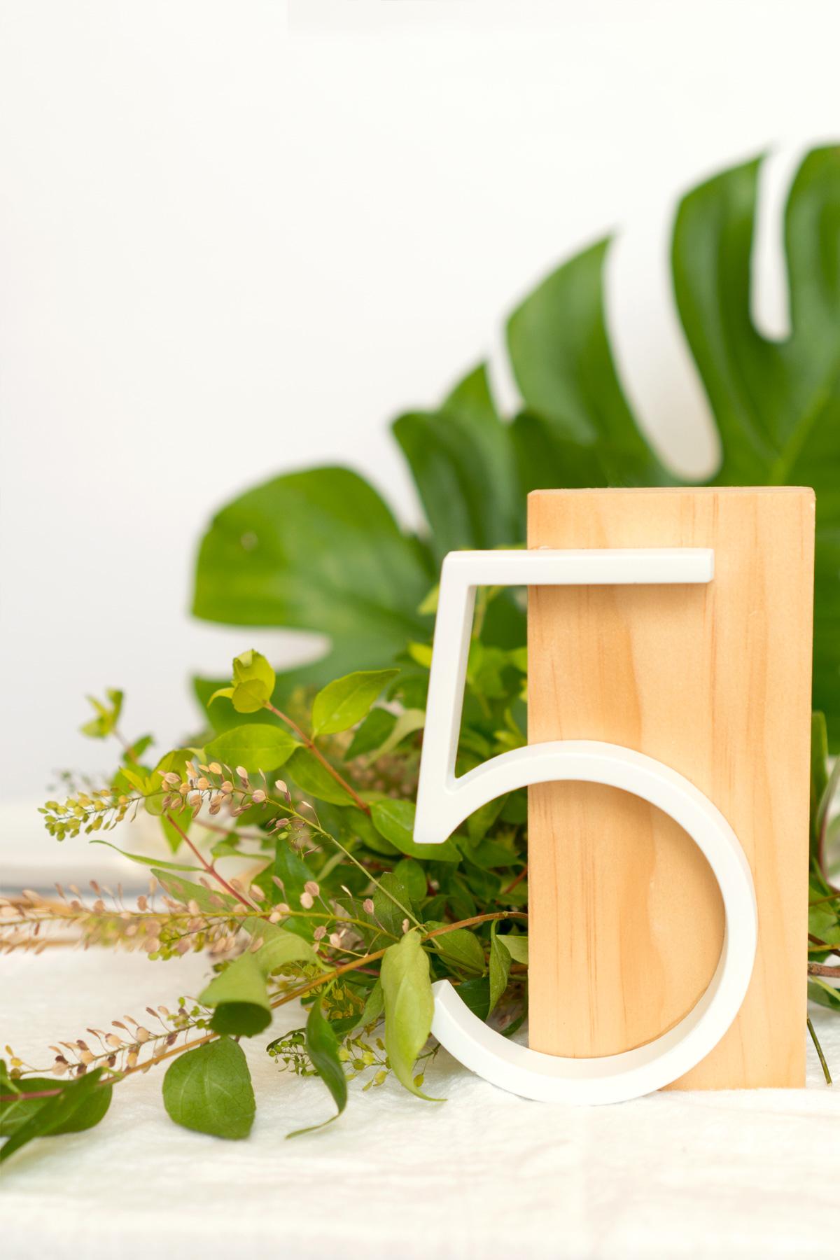 DIY Modern Table Numbers for Weddings | ctrl + curate